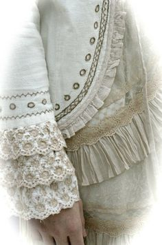 lovely vintage-inspired outfit from Cream.  lace trimmed dress and jacket .