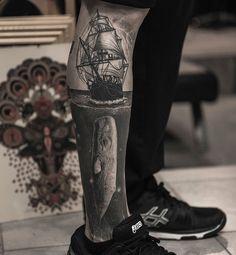 125 Best Leg Tattoos For Men: Cool Ideas + Designs Guide) Leg Sleeve Tattoo, Leg Tattoo Men, Calf Tattoo, Best Leg Tattoos, Body Art Tattoos, Cool Tattoos, Ankle Tattoos For Women, Tattoos For Guys, Tattoo Studio