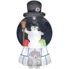 Airblown Christmas Inflatable Yard Decor Snow Globe Frosty The Snowman & Gifts #Gemmy