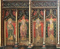 St. Agnes, Cawston, Norfolk, detail of rood screen.