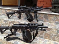 Something about beefed up guns makes me wana kick back and sip a beer just for the hell of it Military Weapons, Weapons Guns, Guns And Ammo, Zombie Weapons, Survival Weapons, Survival Guide, Rifles, Protection Rapprochée, Tactical Shotgun