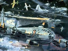 Aviation Art : Air Combat Paintings Collection (Vol.02) - War in the Air : Air Combat Painting Wallpaper 35