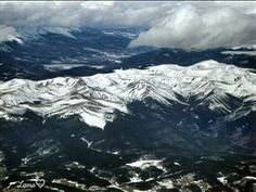 Snow covered mountains in Colorado - pic taken from plane