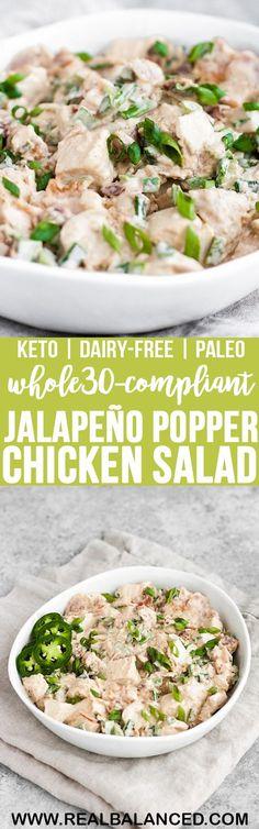 Jalapeño Popper Chicken Salad   Real Balanced