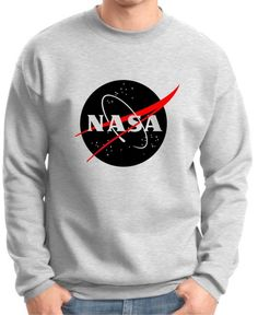 Amazon.com: NASA Emblem Premium Crewneck Sweatshirt: Clothing