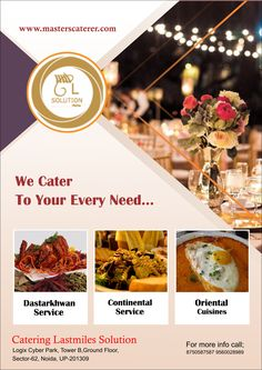 #http://masterscaterer.com/home.html , are a team of motivated and  seasoned people who have come together to reinvent every aspect of your #party.