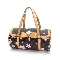 Louis Vuitton Papillon  Monogram Cherry Blossom Shoulder bags Brown Canvas M92009