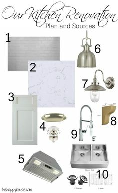 Our Kitchen Renovation Plans and Sources Numbered at The Happy Housie