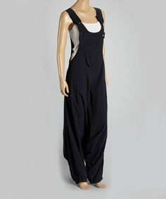 Another great find on #zulily! Black Harem Overalls - Women #zulilyfinds