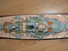 Scale Model Ships, Scale Models, Bismarck Model, Battleship, Sailing, German, Color, Candle, Deutsch