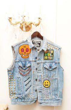 I want to make my own denim vest with Green day, the Offspring, and Blink 182 patches.