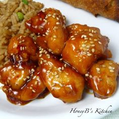 Honey Sesame Chicken....Somehow I have gotten on this Asian kick lately and I'm loving every bit of it.  I am finding out just how easy making these meals are and they all are so yummy!