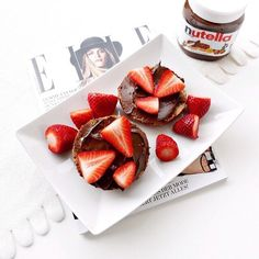 Nutella and strawberries. Yummiest combination.