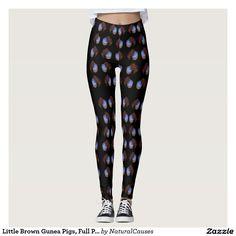 #Guinea #Pig #Leggings #Brown #Animal #Pet #Ladies #Pants #Fashion, Little Brown Gunea Pigs, Full Print Leggings