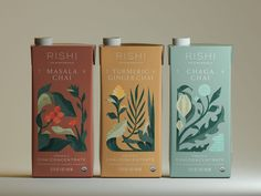 Chai Concentrate by Christina Fischer on Dribbble Food Branding, Branding Design, Packaging Design Tea, Collateral Design, Branding Agency, Luxury Branding, Typography Poster Design, Graphic Design Posters, Product Design Poster