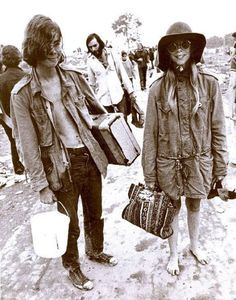 These two hippies are ready for Woodstock! Do you see naivity and innocence in this picture? Isn't it beautiful? (Makes me think of dressing up in my mom and gram's clothes when I was just little!)
