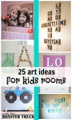 25 Budget-Friendly Ideas for DIY Kids' Room Art | Remodelaholic.com #kidsroom #decorate #art #diy @Remodelaholic .com .com