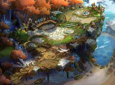 ~`~ by ATFZ on DeviantArt Environment Painting, Environment Concept Art, Environment Design, Fantasy Concept Art, Game Concept Art, Fantasy Art, Fantasy Places, Fantasy Landscape, Landscape Art