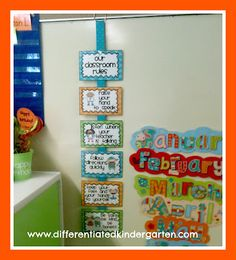 photo of: Differentiated Kindergarten Classroom Rules FREEBIE (From Classroom Behavior RoundUP via RainbowsWithinReach)