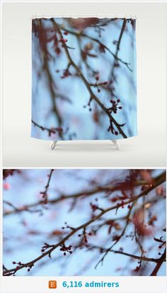 Tree Blooms Photo Shower Curtain - Nature Bathroom Decor - Tree Photo - Made to Order