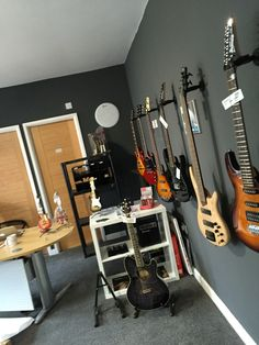 The wall of Ibanez at the Academy. We have a fine selection of Ibanez Acoustics, Electrics and other accessories.   www.teachmemusic.academy