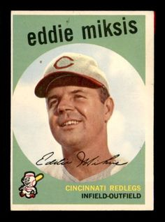 1959 Topps Eddie Miksis 58 Baseball Card for sale online Mlb Players, Baseball Players, Baseball Cards For Sale, Baseball Photos, Merry Go Round, Cincinnati Reds, Trading Cards, History, Sports