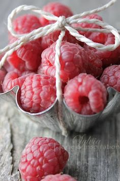 fruit > berry > reds > raspberry metal bowl bow (by sylvia home inspiration)