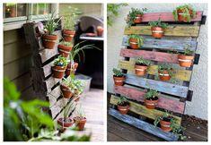 Con la primavera todo está más verde y apetece que en casa también se note, una buena idea es decorar con jardineras de palets.