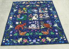 Best woodland creatures applique images quilt pattern