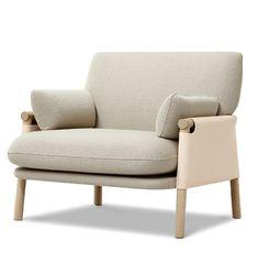 Contemporary armchair / wooden / polyurethane / fabric SAVANNAH : EJ 880 by Monica Förster Erik Jørgensen
