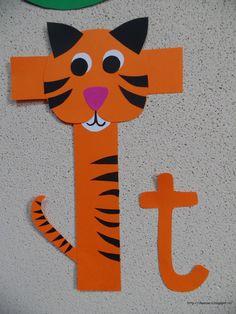 Clasa pregatitoare: Litera T de la tigru