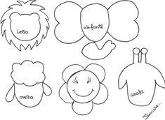 PASO A PASO CON JEANNINE: animales de la selva MOLDES para lapiz Felt Patterns, Crochet Patterns, Baby Patterns, Heritage Chickens, Finger Puppet Patterns, Crochet Eyes, Knitting For Charity, Baby Scrapbook, Jungle Animals