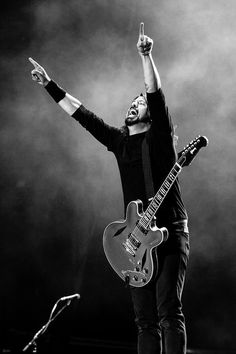 That's Dave Grohl in Foo Fighters but anyway...