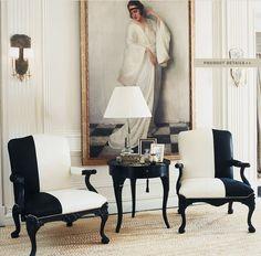 Ralph Lauren Home Mayfield Feminine Elegant Black and white Paris French Style