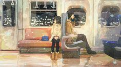 Image about girl in anime/movies/shows/manga by Multicolored♥Acid Anime Love Couple, Cute Anime Couples, Anime Art Girl, Manga Art, Illustrations, Illustration Art, Anime Triste, Art Watercolor, Anime Artwork