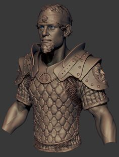 Gavin Goulden - Messing with some armor, going to finish up the shoulder pads and bring it to game rez for a demo #GameArt #ZBrush