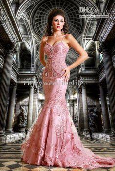Wholesale 2011 Custom Made Hot Sale Spaghetti Straps Sexy Beading Lace Mermaid Evening Dresses EWL100, $156.8-168.0/Piece | DHgate