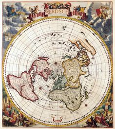 Antique Maps of the WorldPolar MapCornelis Dankertzc 1700