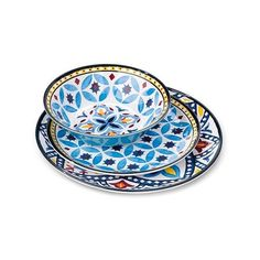 Safi Moroccan Tile Heavyweight 23oz Melamine Dinner Bowl 4-pc Blue ($12) ❤ liked on Polyvore featuring home, kitchen & dining, dinnerware, blue, dinner-ware, threshold dinnerware, blue bowl, dinner bowl and blue dinnerware