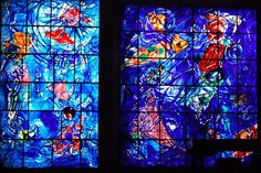 Marc Chagall, Stained Glass Window, Chagall Musee de Nice.