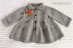 Pretty Little Coat -Ranger 911 Coat Patterns, Baby Knitting Patterns, Baby Coat, Three Little, Swing Coats, Knitted Coat, Baby Sweaters, Knitting Projects, Baby Dress