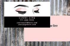 Etsy Business Cards, Printable Business Cards, Lash Extensions, Eyelashes, Beauty Makeup, Design, False Eyelashes, Lashes