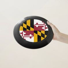Patriotic Frisbee with Flag of Maryland - tap/click to personalize and buy  #flag #american #flag #sport #seal