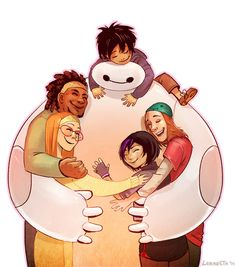 """""""I SAW IT. I SAW IT. BIG HERO 6 IS A PILE OF LOVE, NERDS AND ROBOTS"""" - larbestaaargh 
