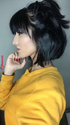 2019 short bob hairstyles and pixie haircuts.You are the best with - 2019 short bob hairstyles and pixie haircuts.You are the best with 2019 short bob hairstyles and pixie haircuts.You are the best with Bobs For Thin Hair, Short Hair With Bangs, Short Hair Cuts For Women, Thick Bangs, Bob Hairstyles For Fine Hair, Short Hairstyles For Women, Black Hairstyles, Short Choppy Haircuts, Pixie Haircuts