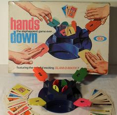 Hands Down Vintage Ideal 1960s Toy Game by Christian Montone, via Flickr  I still have this game, not my old one, I'm on my 4th box, it flooded in the basement a couple of times, and my mom threw every thing away that got wet. The 3rd one got wore out.