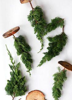 DIY miniature Christmas trees from scraps ; Gardenista