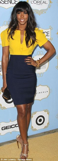 Colour pop: Jennifer Hudson and Kelly Rowland at the Essence 6th annual Black Women in Hollywood Awards Luncheon