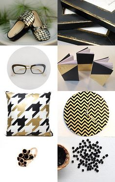 Black and gold by francesca mosmea on Etsy--Pinned with TreasuryPin.com