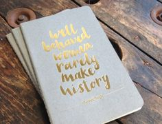 Gold foiled Moleskine Cahiers - Noted in Style